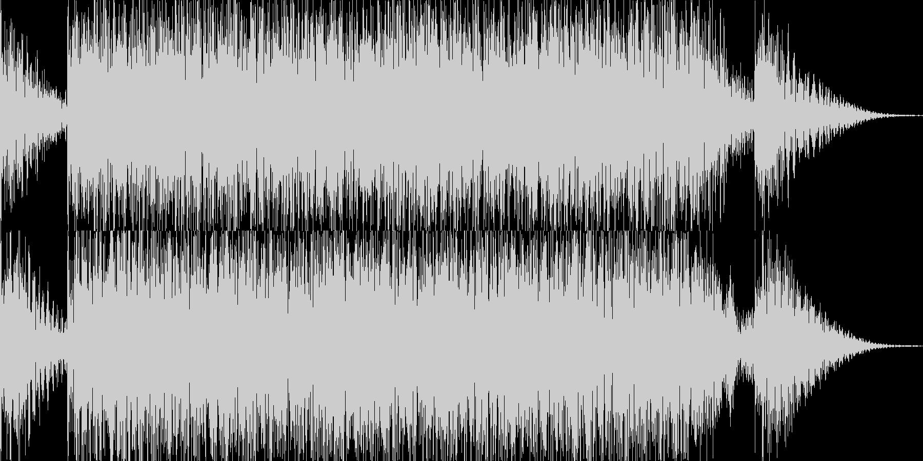 ドコドコドン 太鼓 ドラムロールの未再生の波形