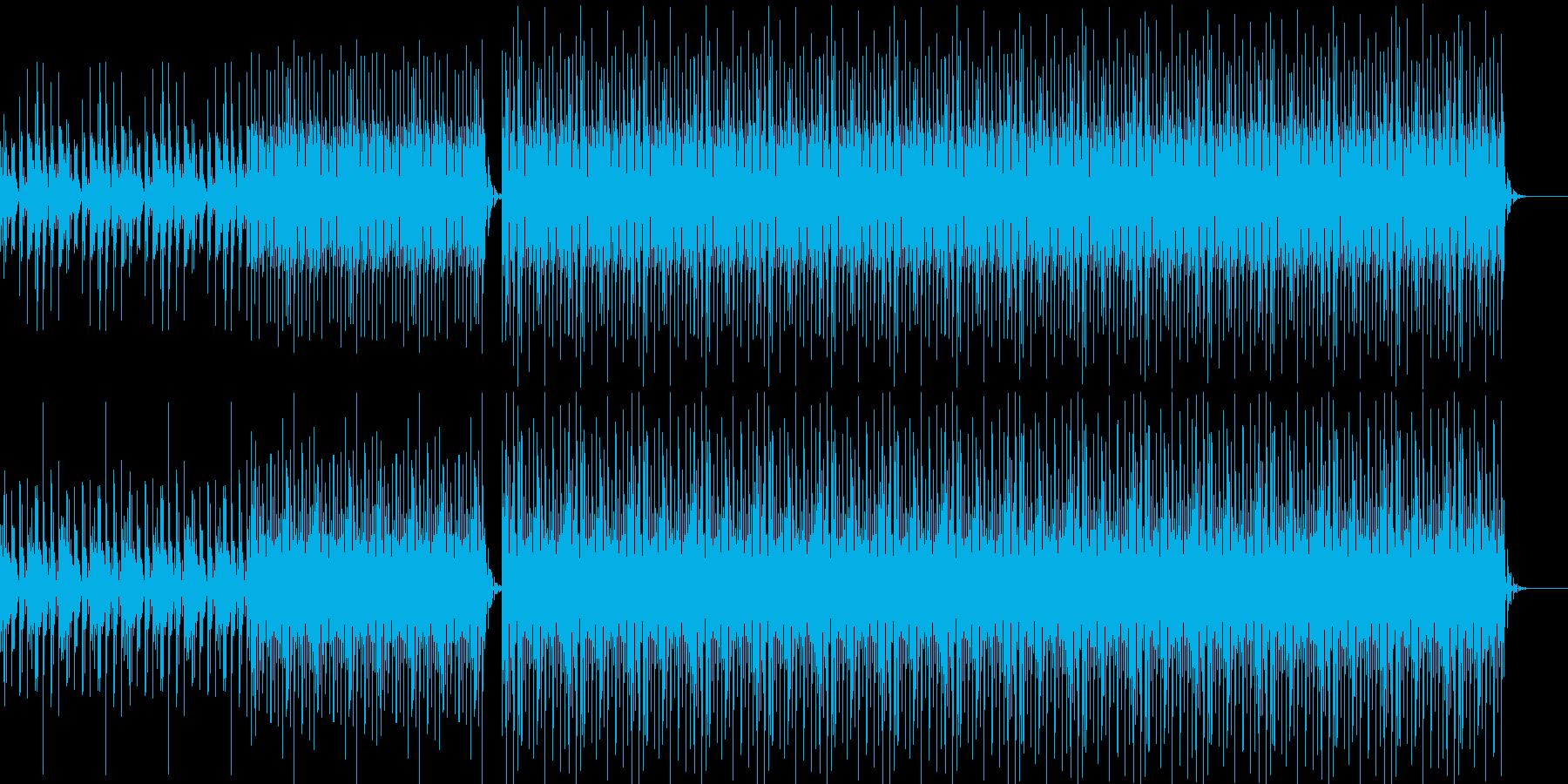 浮遊感漂うシンセリフがリピートするテクノの再生済みの波形
