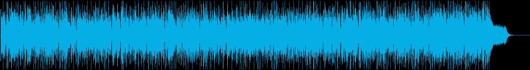 ドラムが軽快で活動的なBGMの再生済みの波形