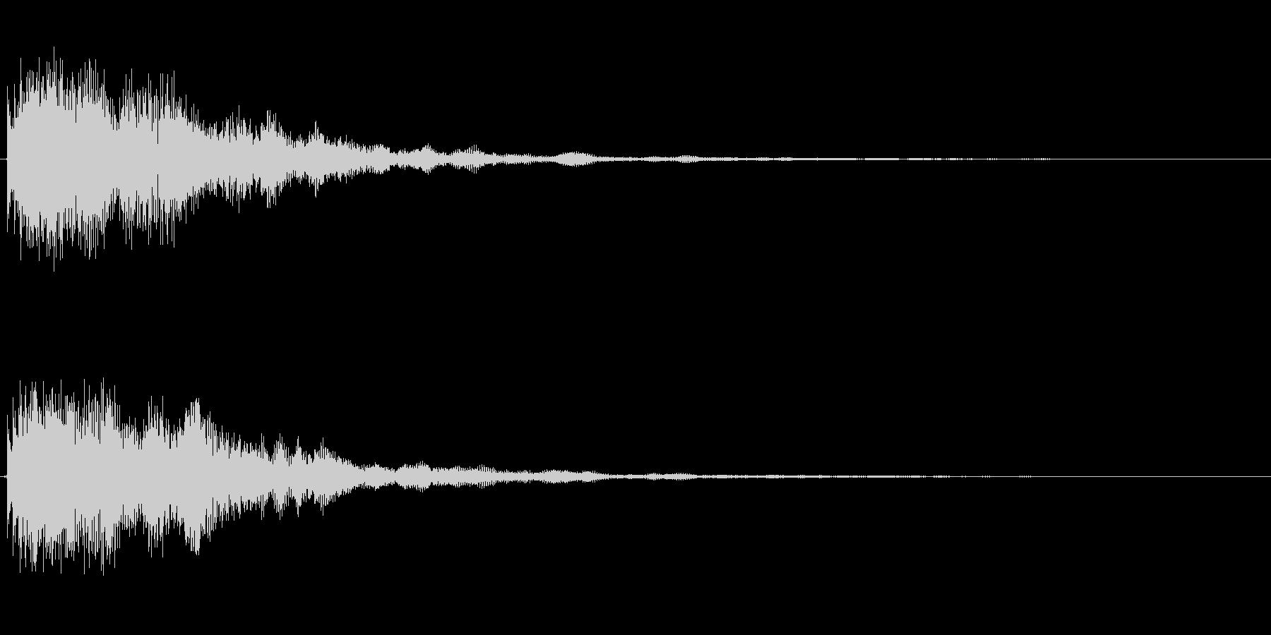 カ〜ン(複数の音色)の未再生の波形