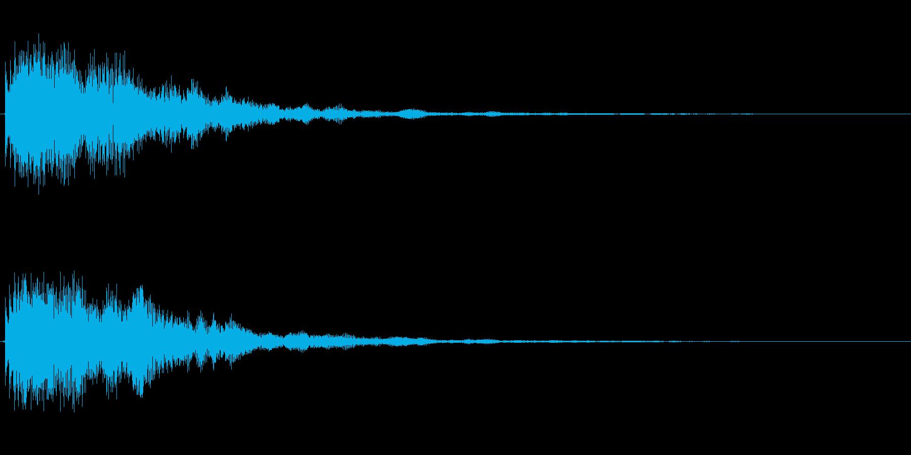 カ〜ン(複数の音色)の再生済みの波形