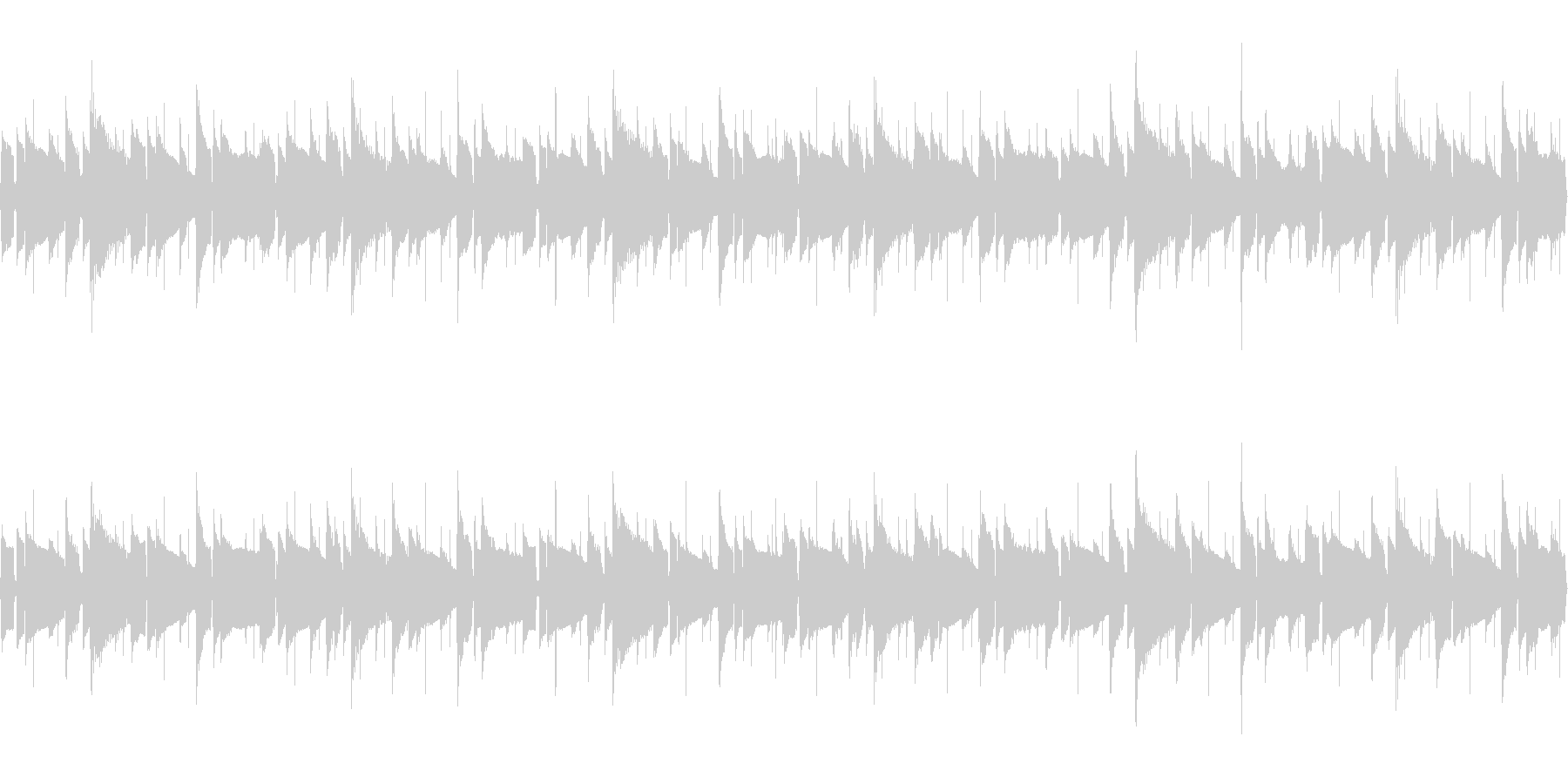 【52秒ループ】軽やかなボサノバハワイ曲の未再生の波形