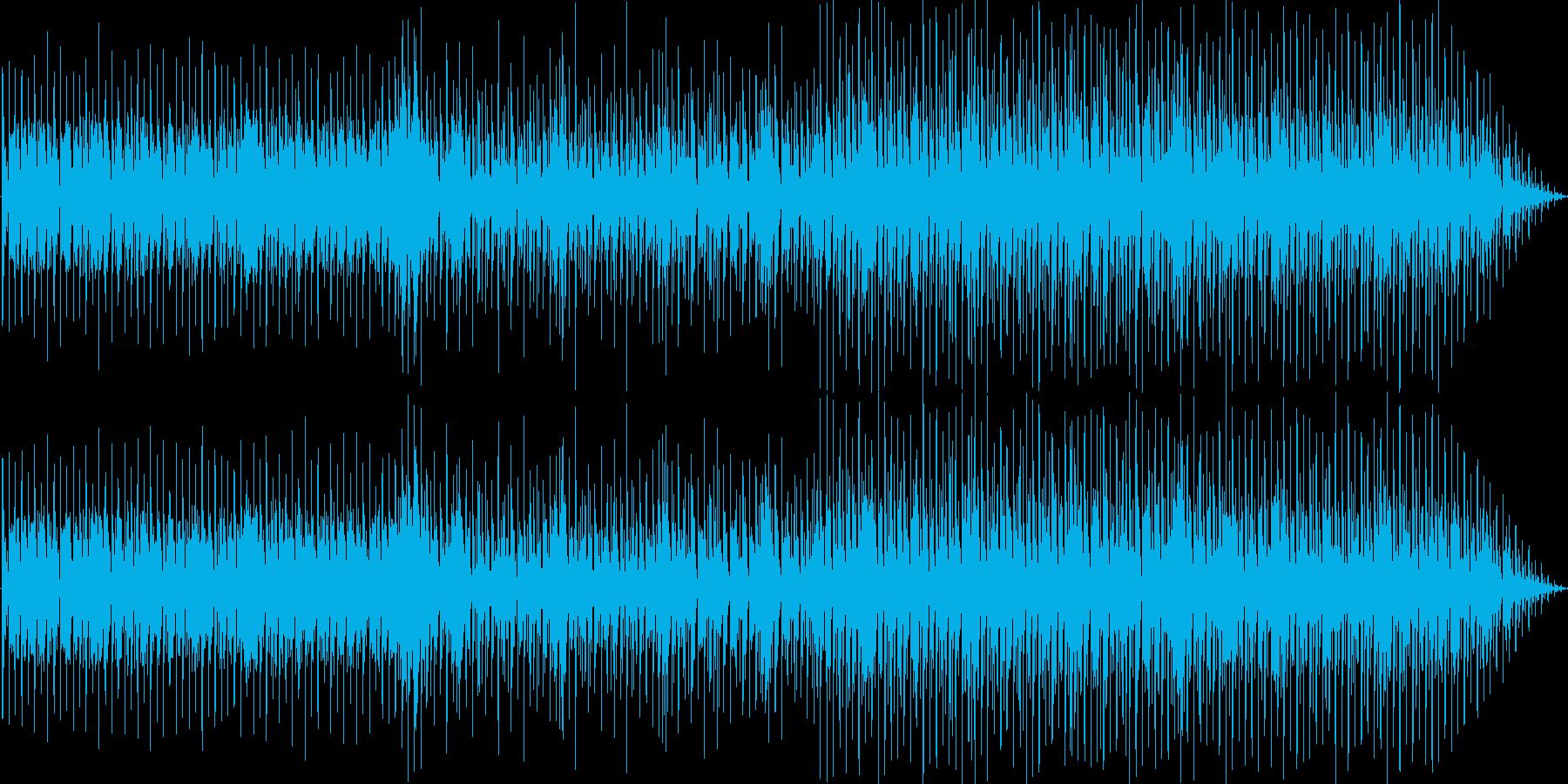 ノリのいい分厚いテクノビートの再生済みの波形