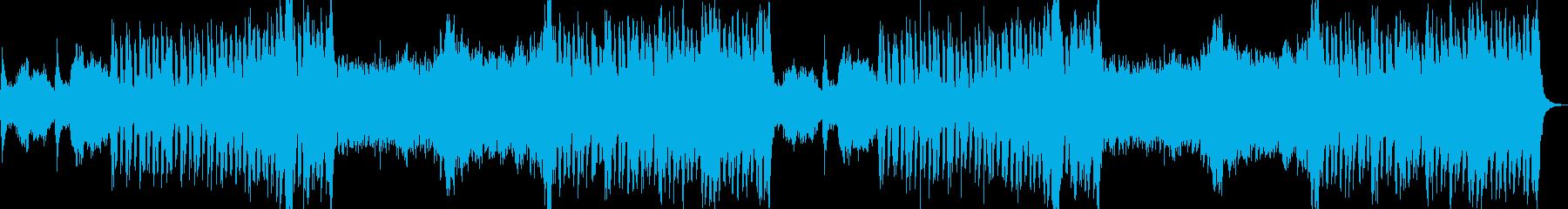 緊迫したオーケストラの再生済みの波形