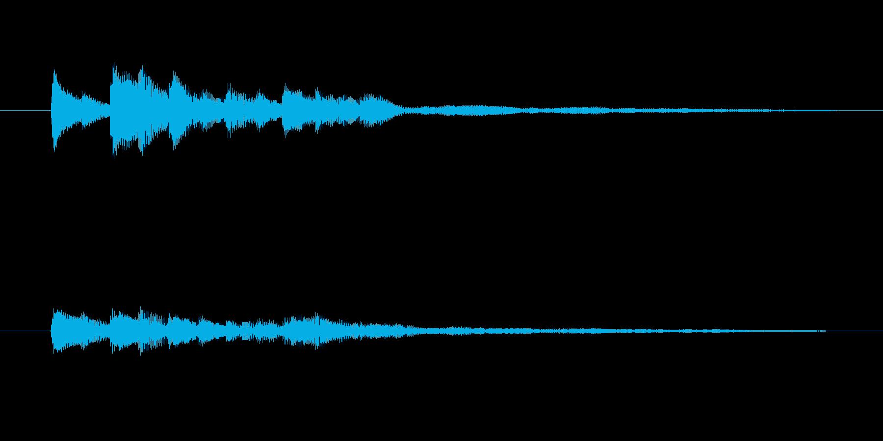ピアノだけのシンプルで綺麗なジングル8の再生済みの波形