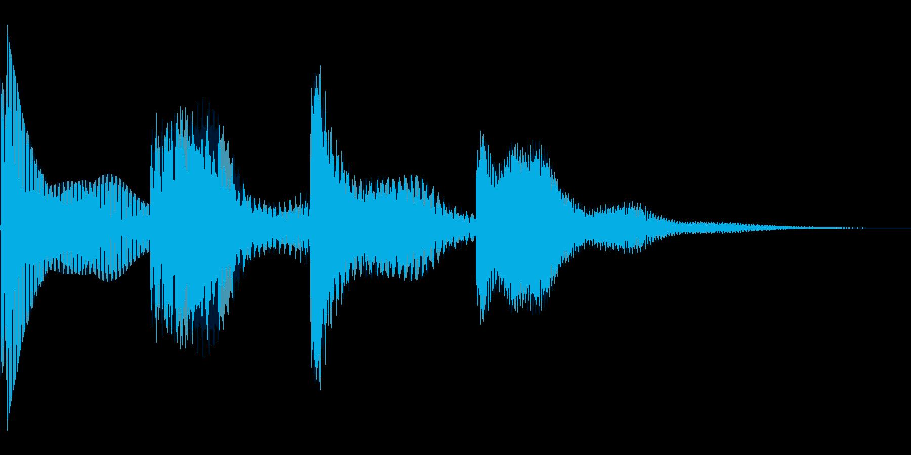 キンコンカンコンの再生済みの波形