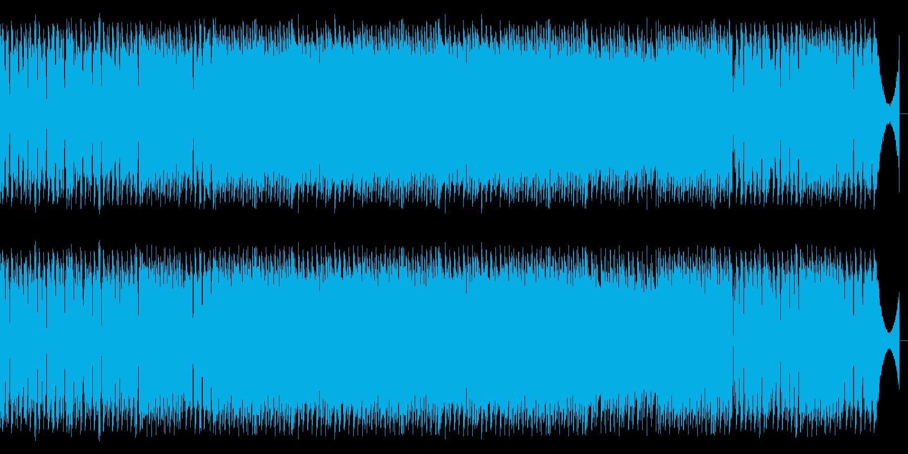化学系医療系のシリアスな映像用BGMの再生済みの波形