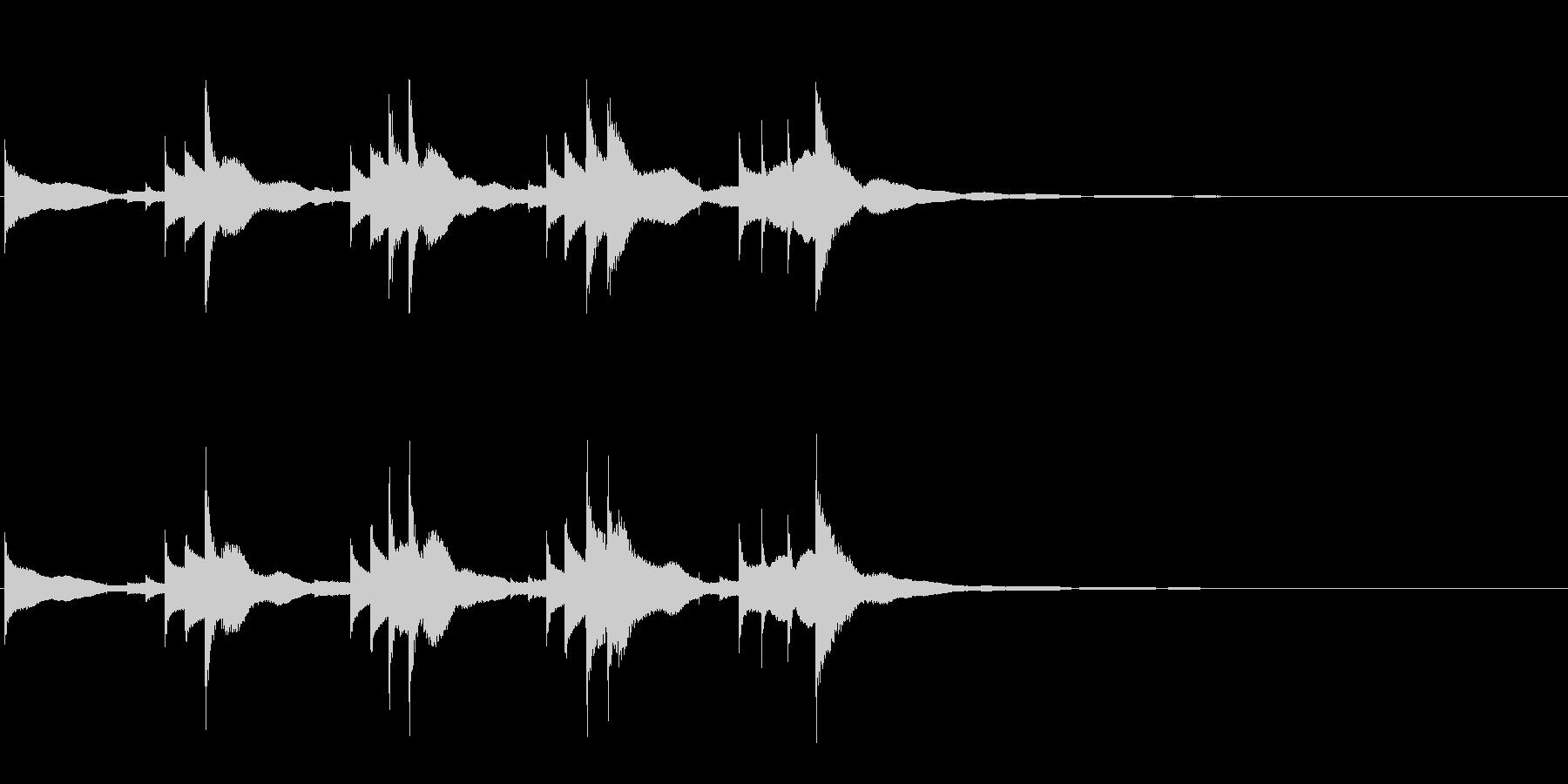 小型の鐘「本つり鐘」のフレーズ音1の未再生の波形