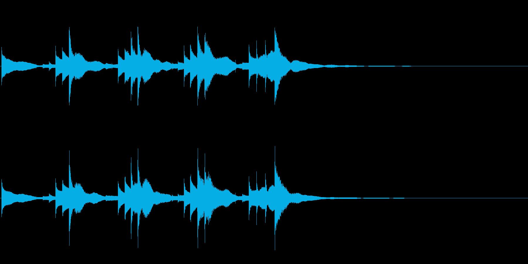 小型の鐘「本つり鐘」のフレーズ音1の再生済みの波形
