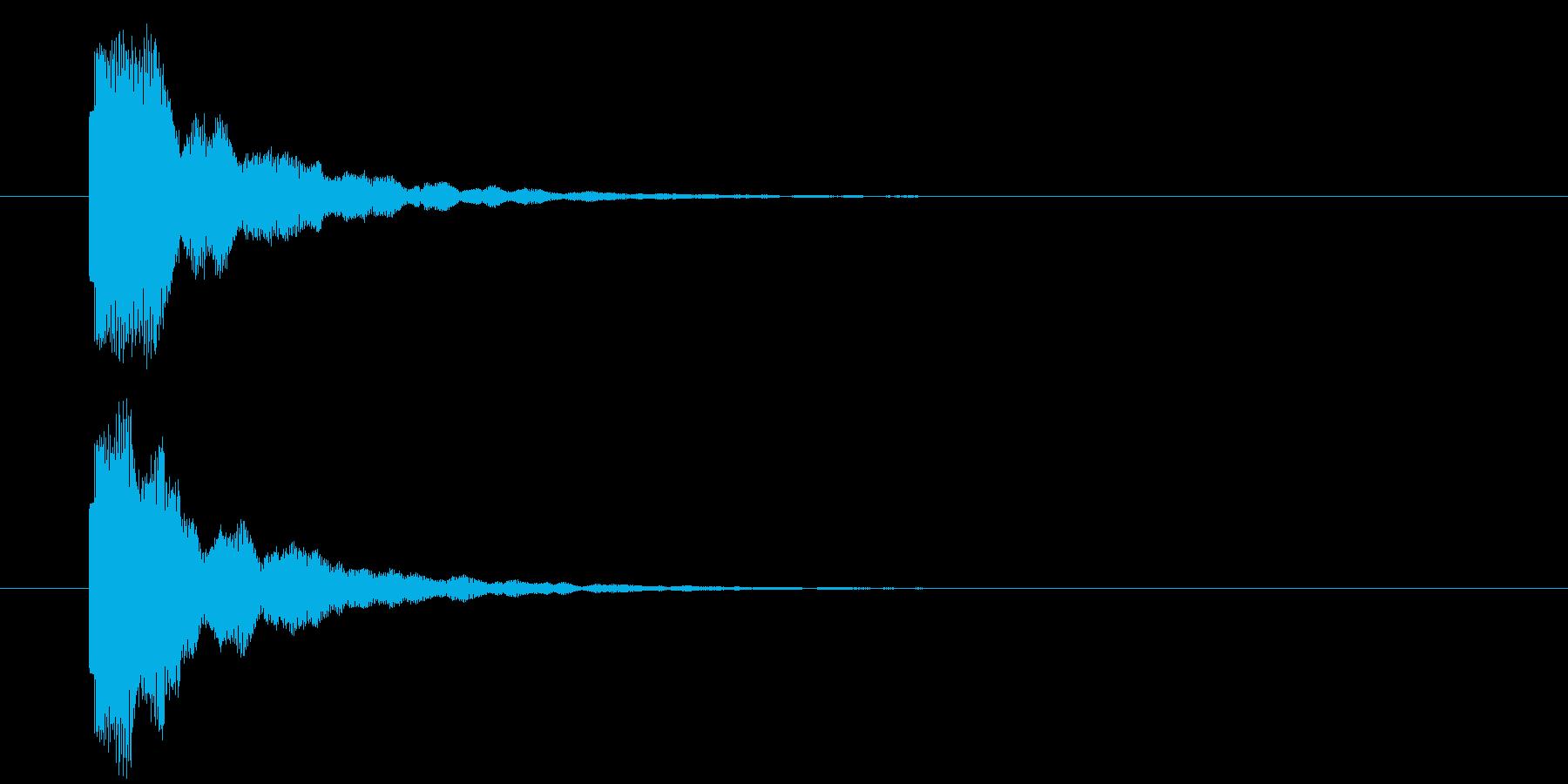 ピッ/ティン 短め ボタン 明るすぎないの再生済みの波形