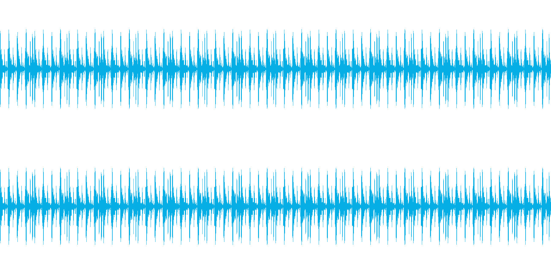 イベントなどに使えるループ仕様サウンドの再生済みの波形