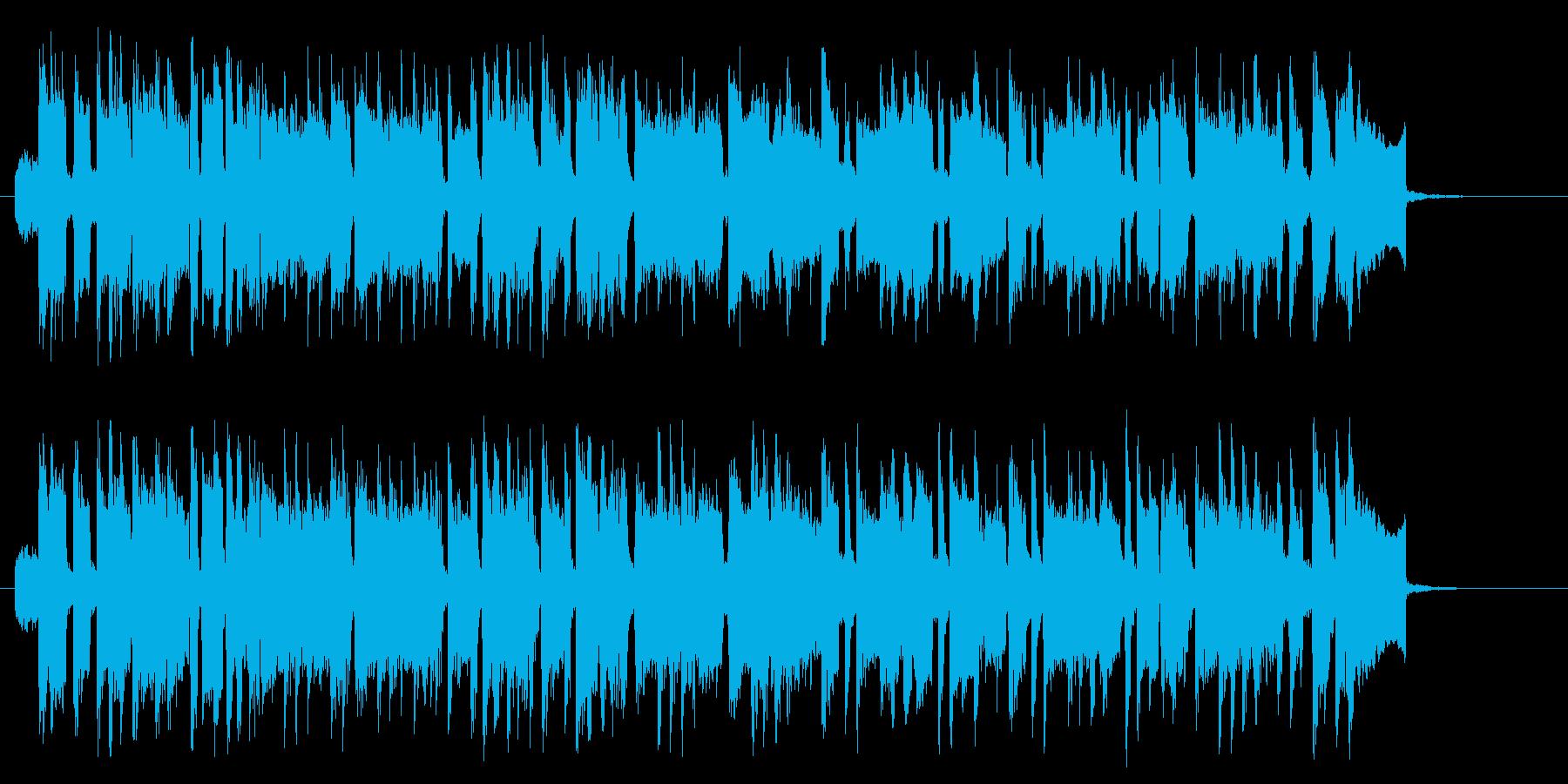 楽しげな印象のシンセポップスの再生済みの波形