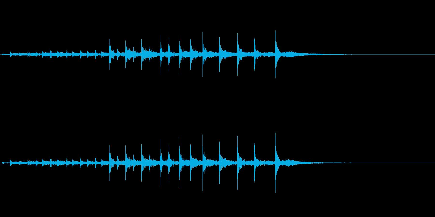 祭囃子や邦楽囃子の豆太鼓フレーズ音+FXの再生済みの波形