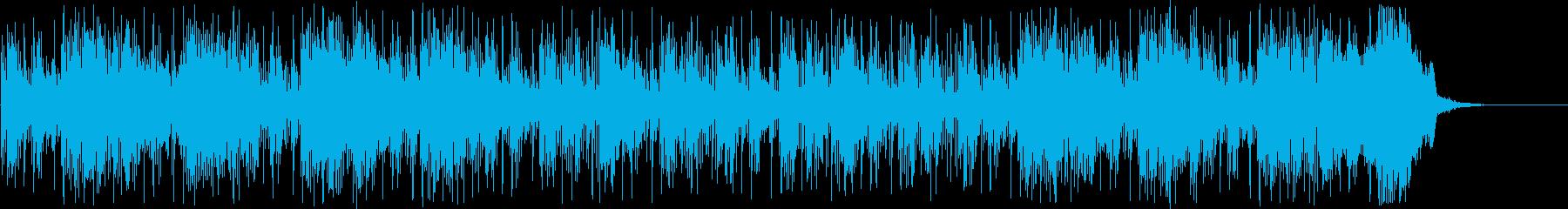 シンセサイザーによる近未来的なBGMの再生済みの波形
