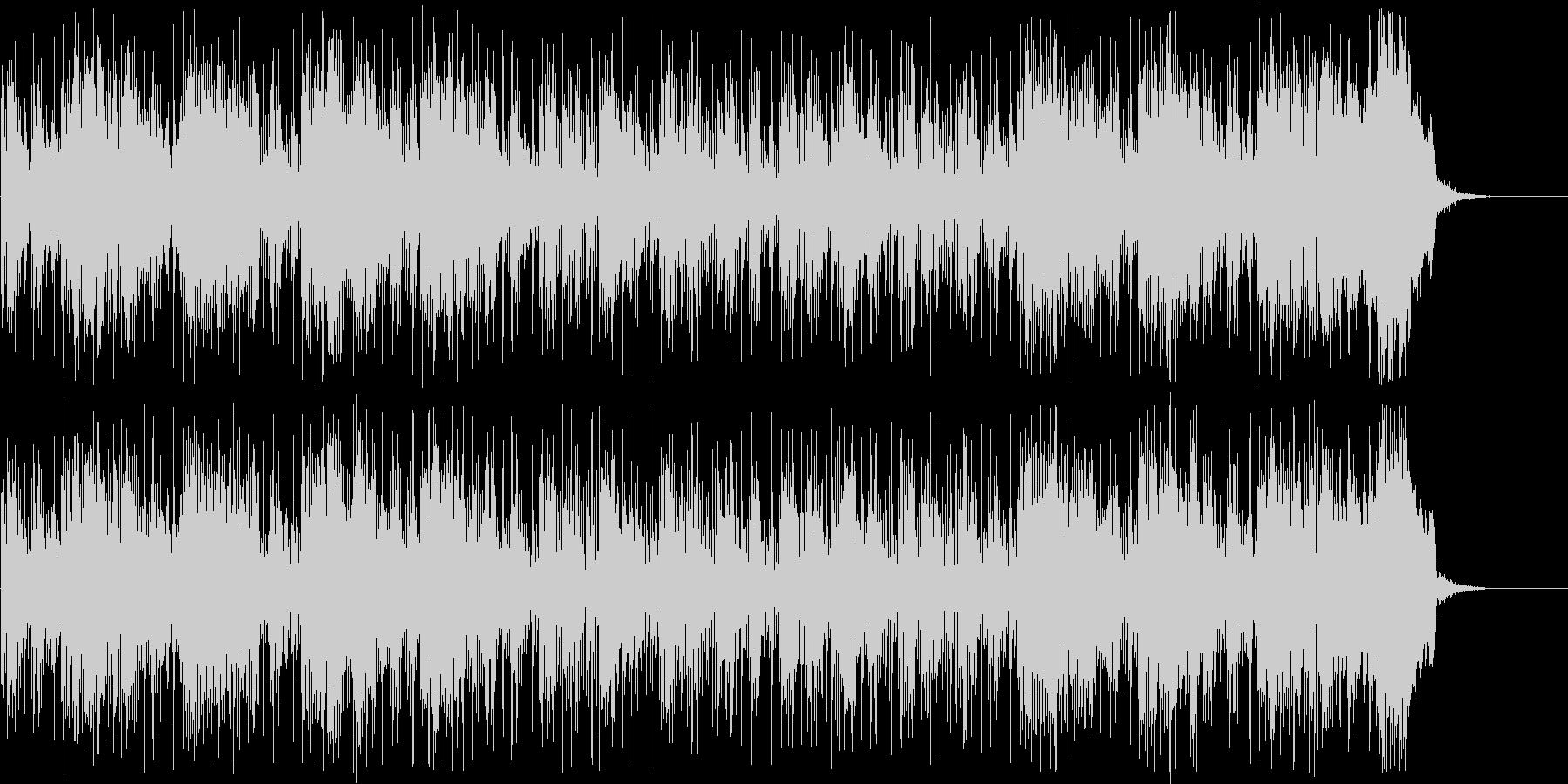 シンセサイザーによる近未来的なBGMの未再生の波形