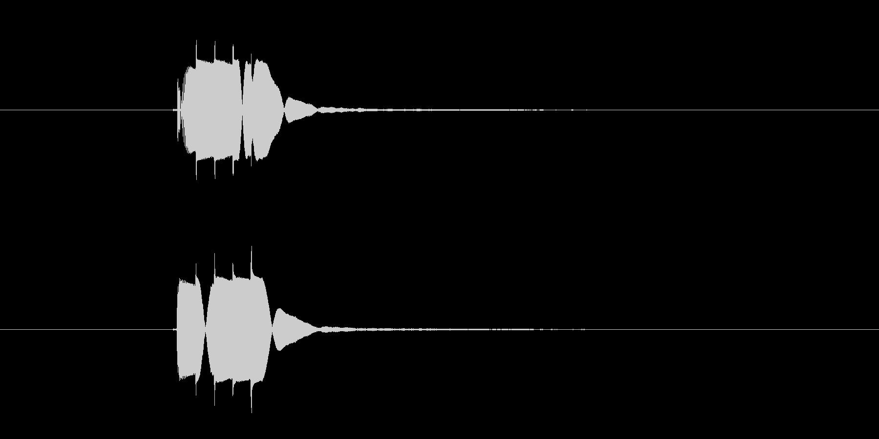 ピロリン(高音の決定音)の未再生の波形