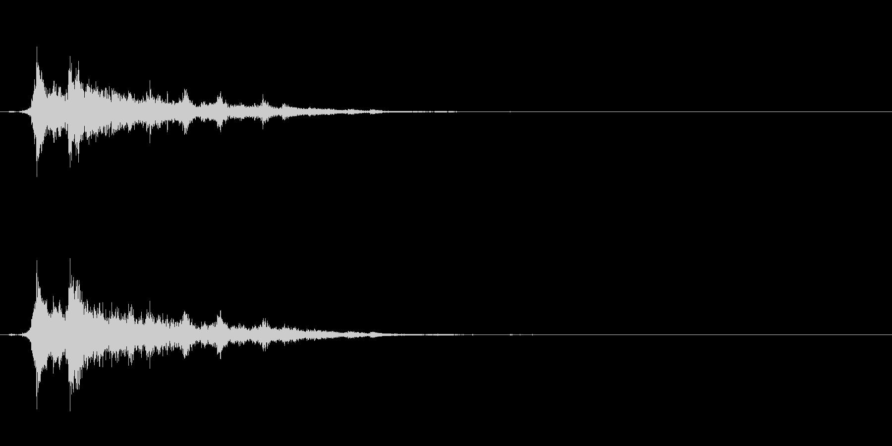 重めの鈴の音「えきろ」の単発音1+Fxの未再生の波形