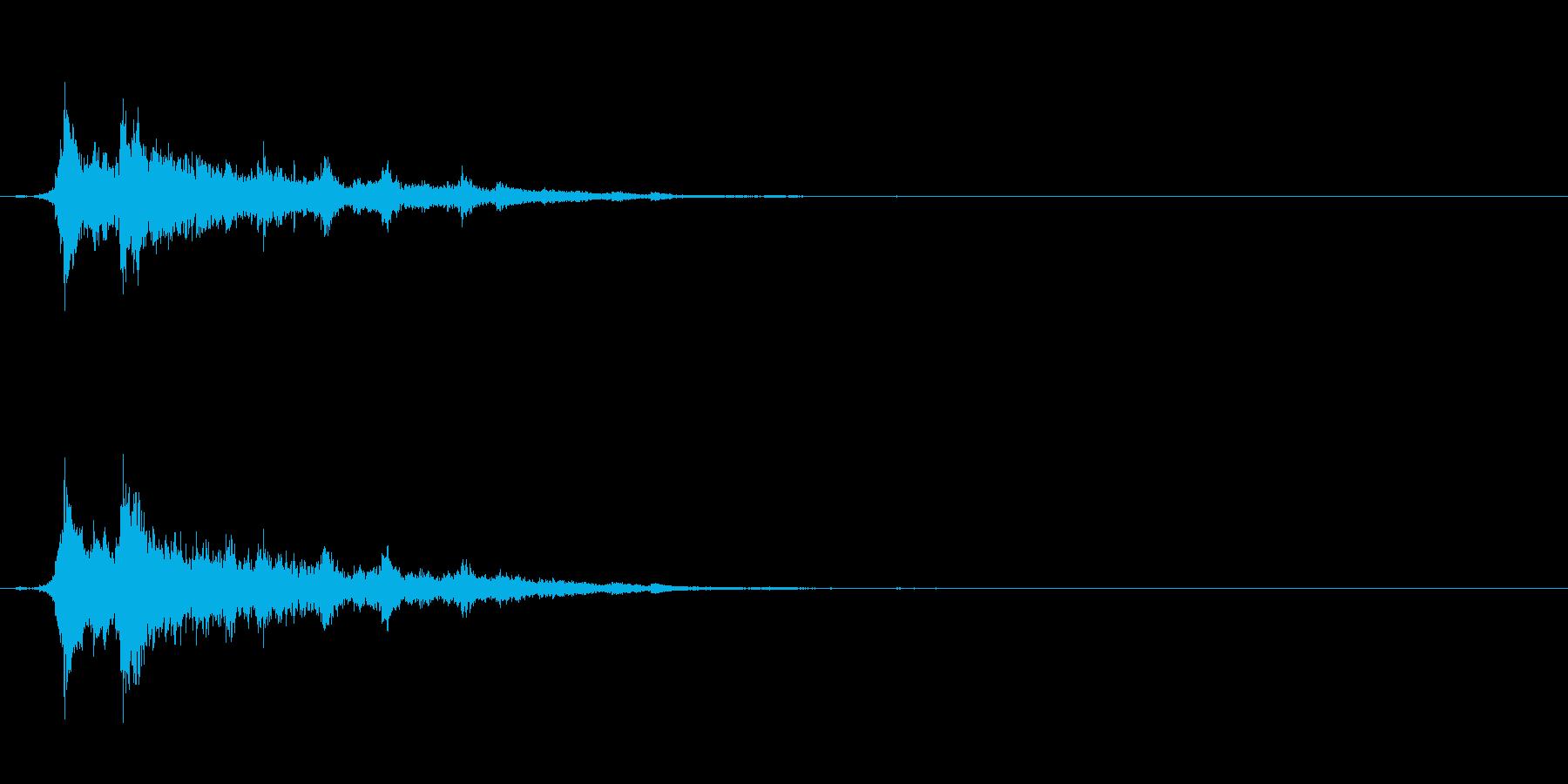 重めの鈴の音「えきろ」の単発音1+Fxの再生済みの波形
