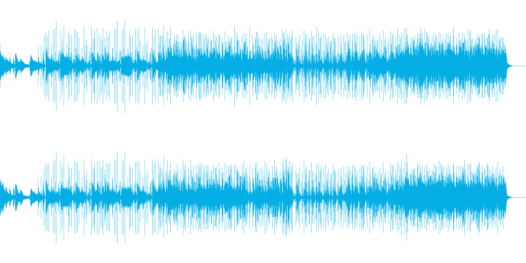 決意してる時のbgmの再生済みの波形