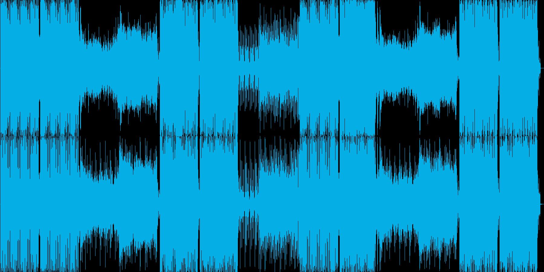 パンチの効いたバキバキのテクノの再生済みの波形