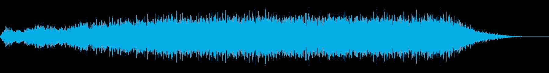 神秘的な雰囲気のアンビエント(背景音)2の再生済みの波形