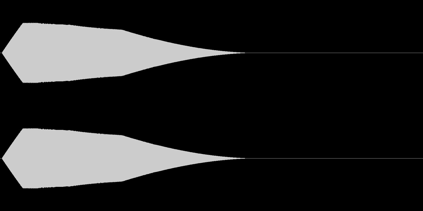 シンプルでチープな落下音の未再生の波形