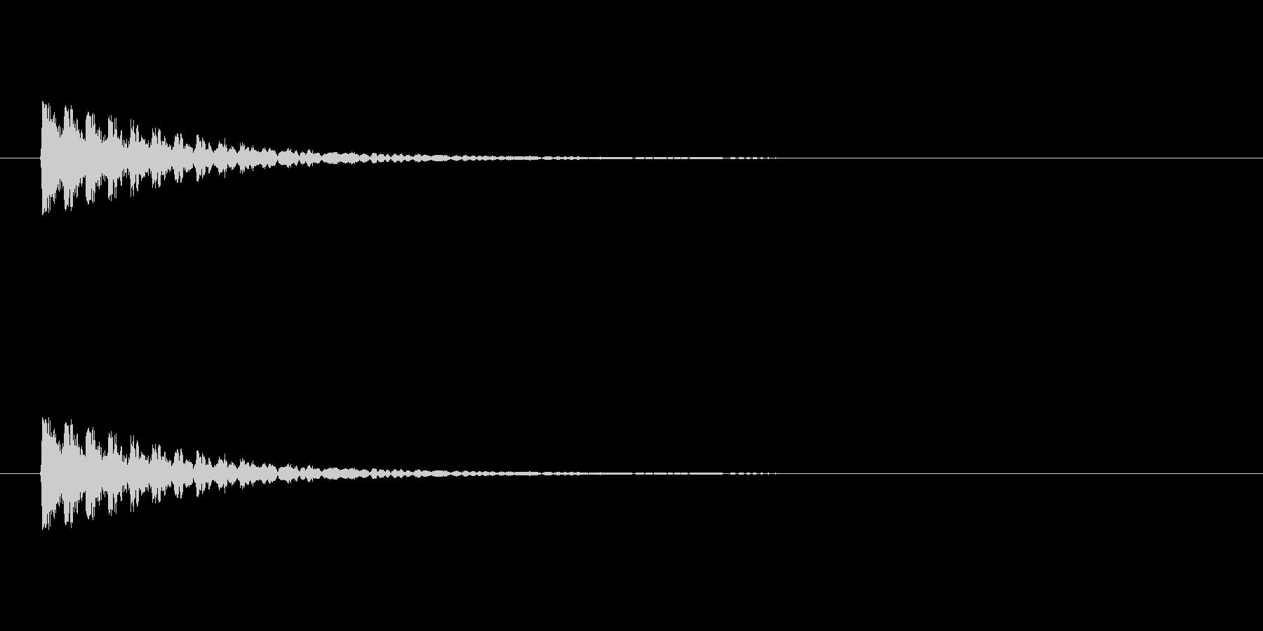【アクセント18-1】の未再生の波形