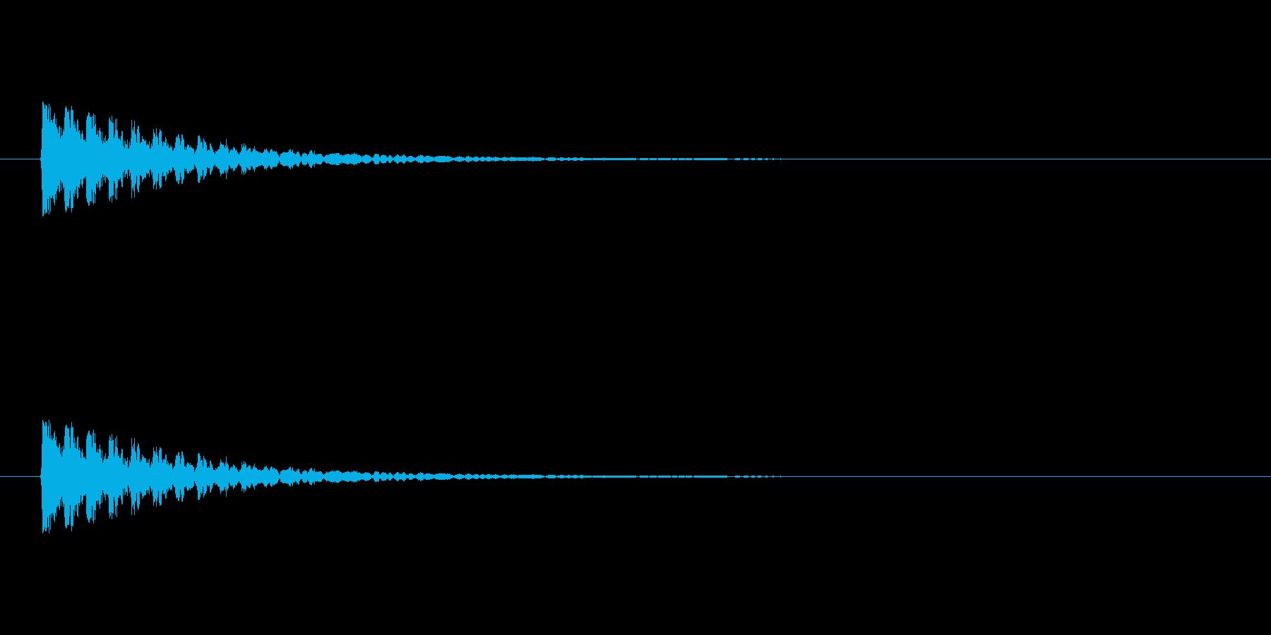 【アクセント18-1】の再生済みの波形