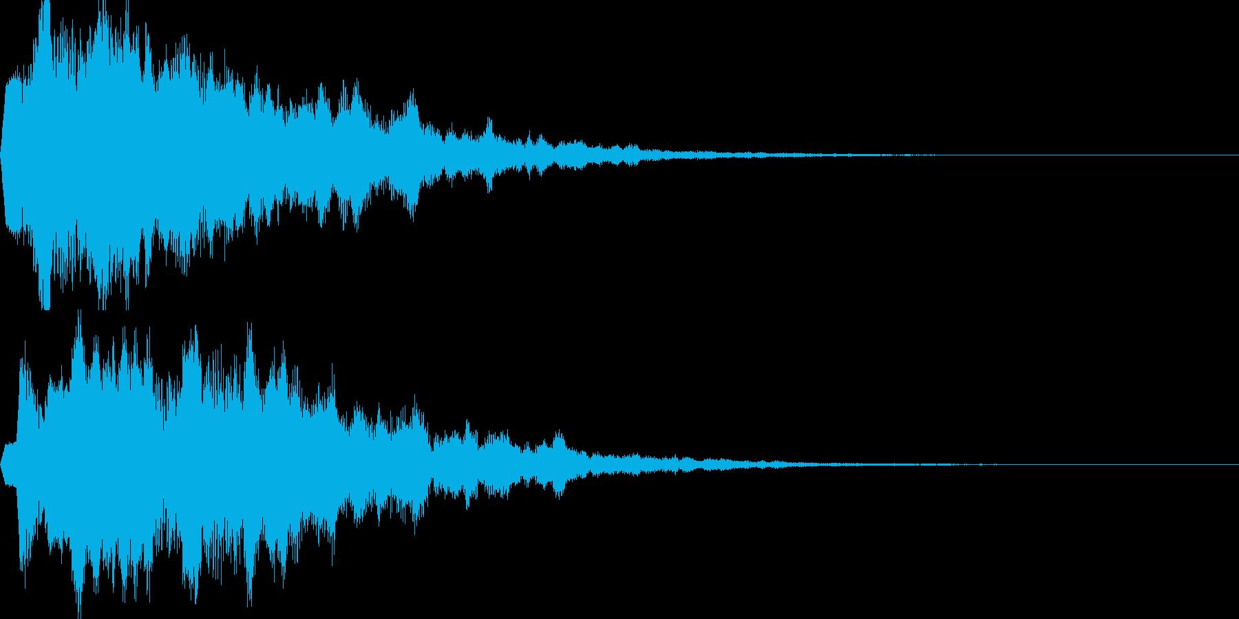 サウンドロゴ17(シンセ系)の再生済みの波形