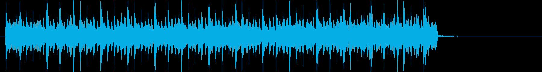 リズミカルで軽快なポップジングルの再生済みの波形