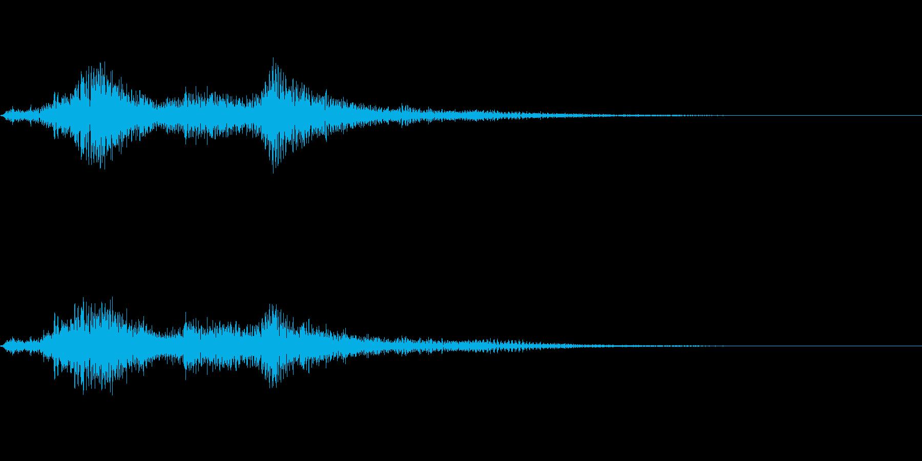 ハープの音色で変身の再生済みの波形