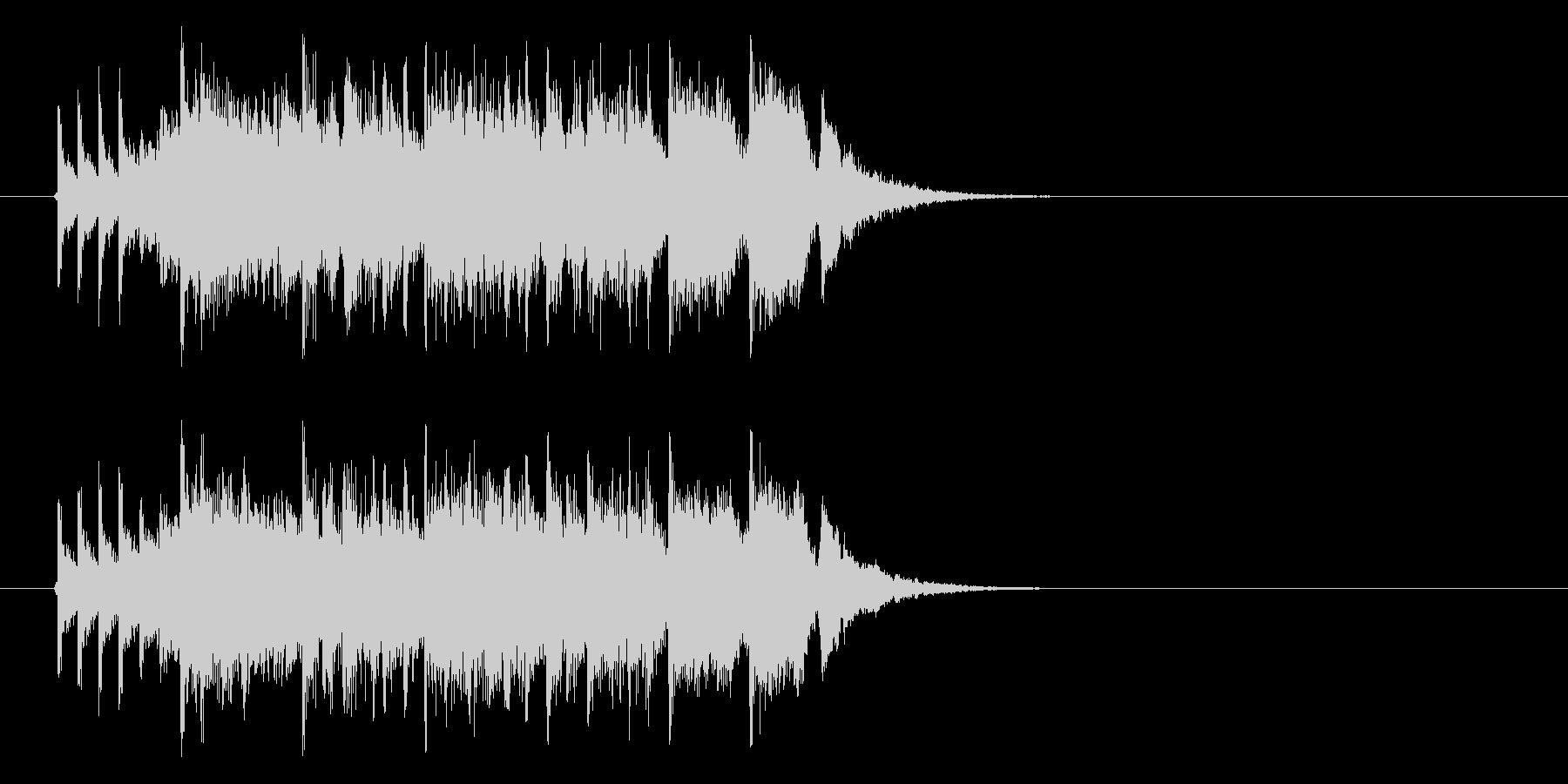 ジングル(ファンファーレ系)の未再生の波形