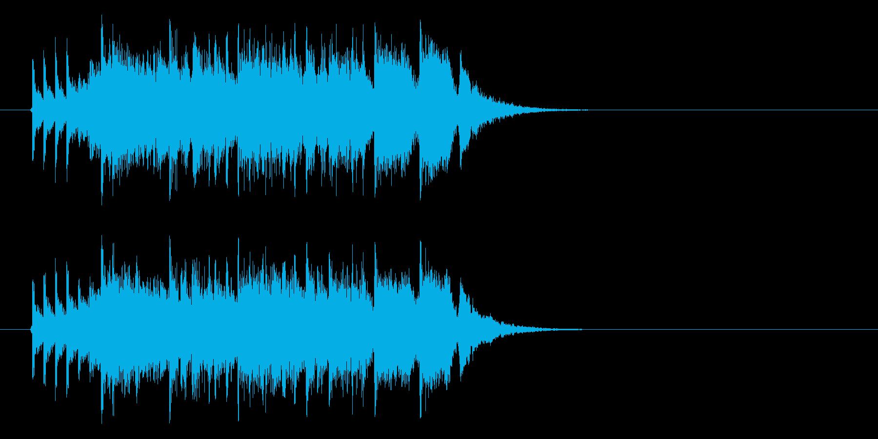 ジングル(ファンファーレ系)の再生済みの波形