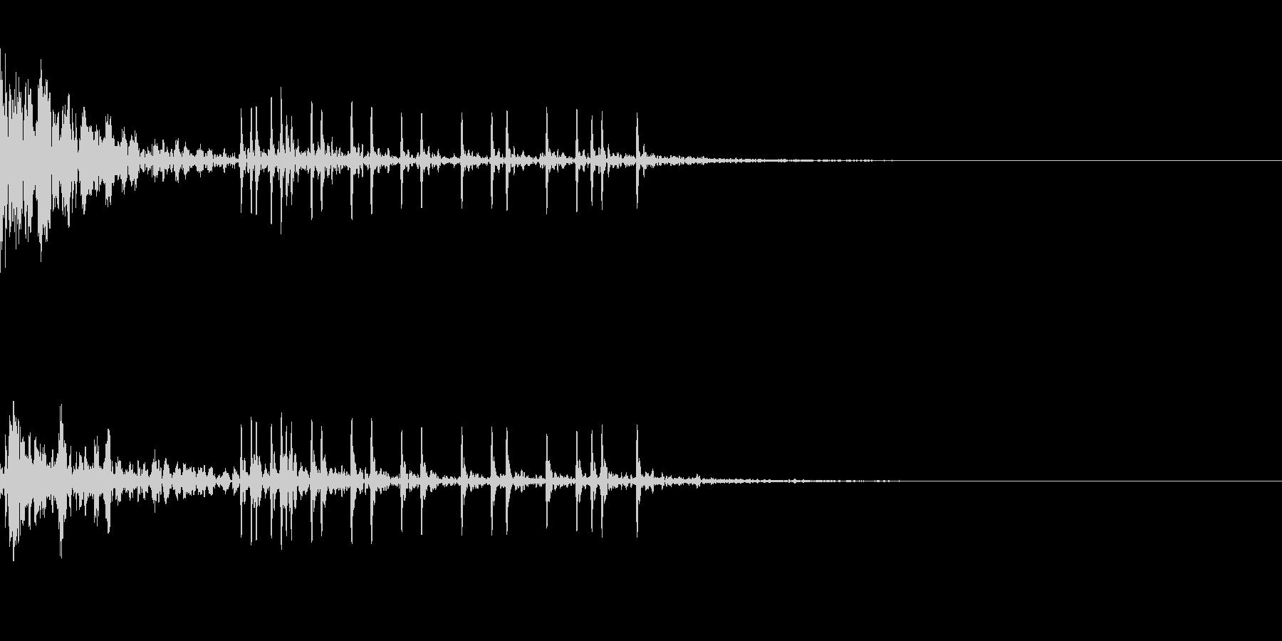 ドーン!(打ち上げ花火)その3の未再生の波形