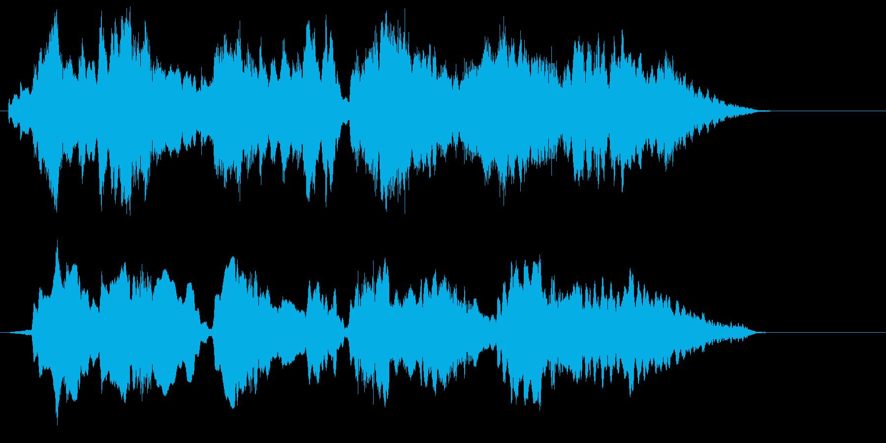 ゆったり穏やかなリラクゼーションジングルの再生済みの波形