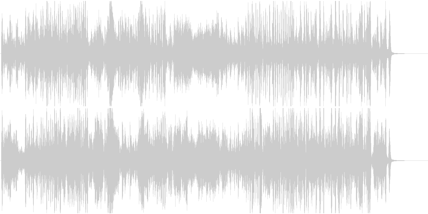 ピアノ名曲熊蜂の飛行 疾走感とせわしなさの未再生の波形