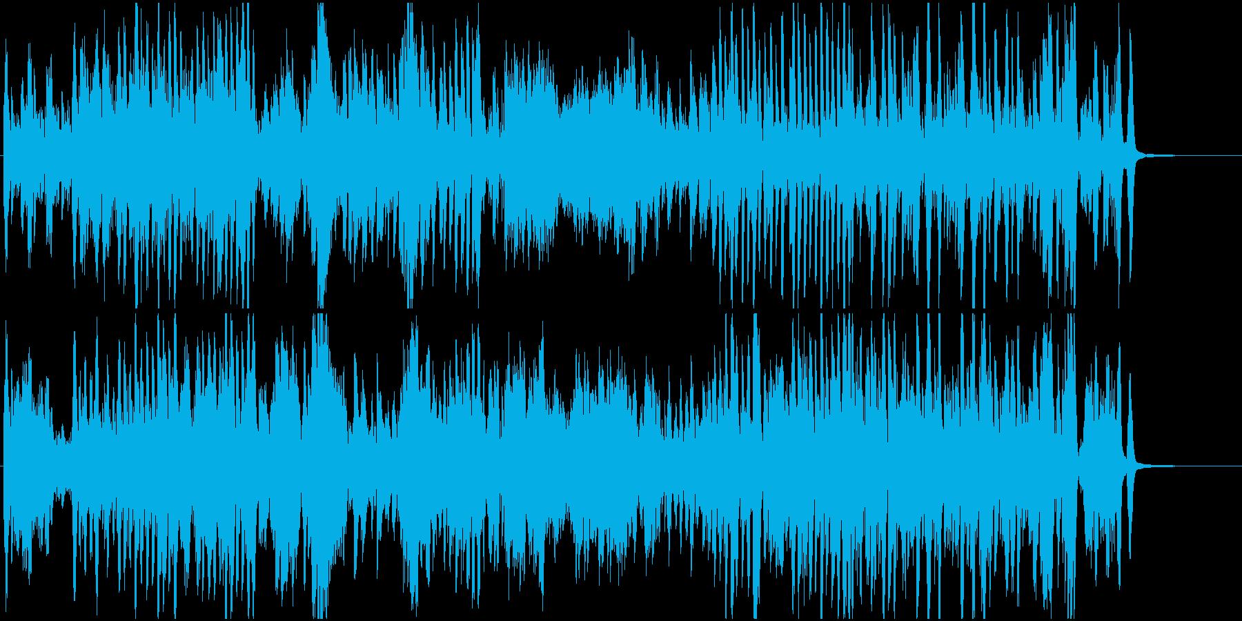 ピアノ名曲熊蜂の飛行 疾走感とせわしなさの再生済みの波形