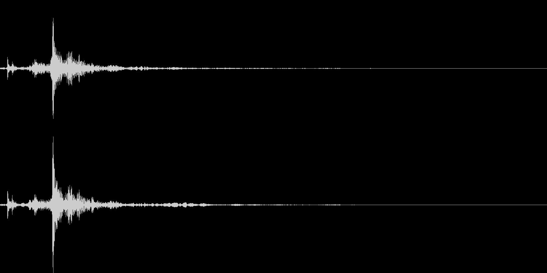 電子レンジを開けるの未再生の波形