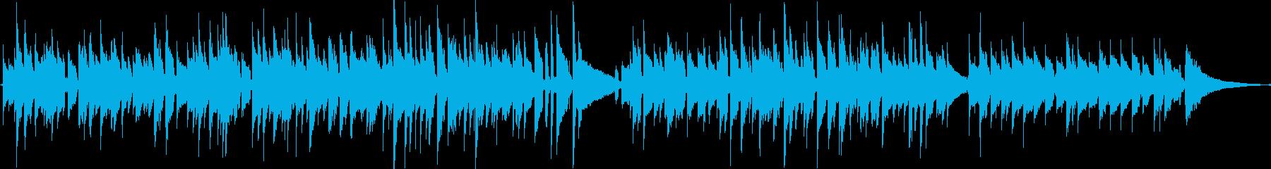 ノスタルジックなアコースティックギターの再生済みの波形