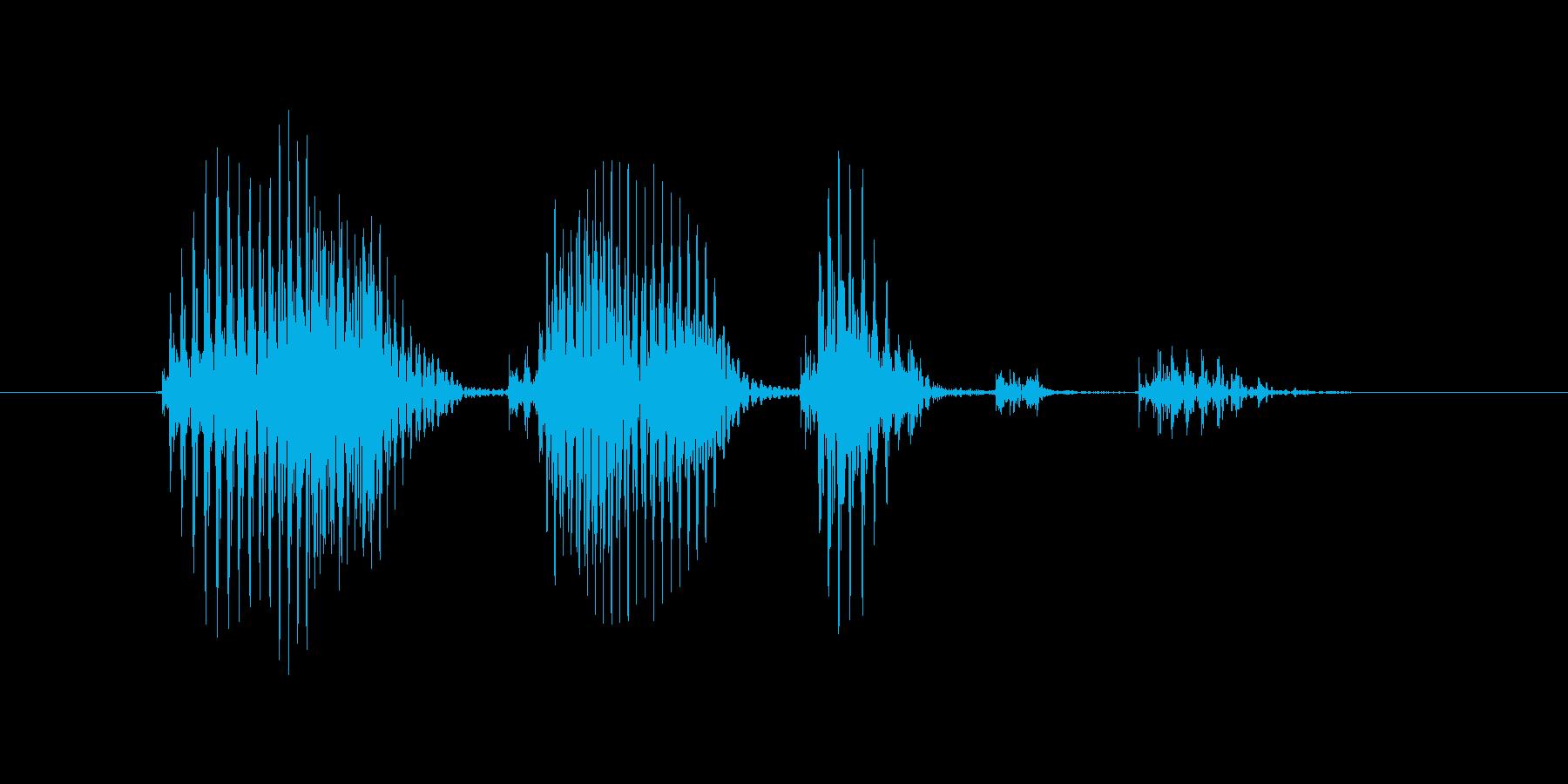 アイコンタクトの再生済みの波形