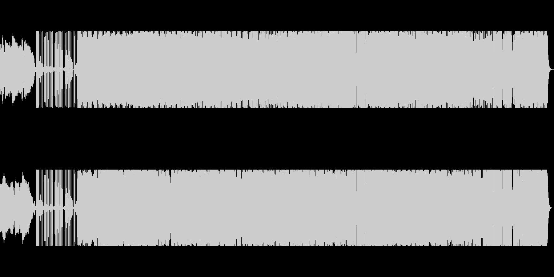 プロが作曲 テクノ ベースの未再生の波形
