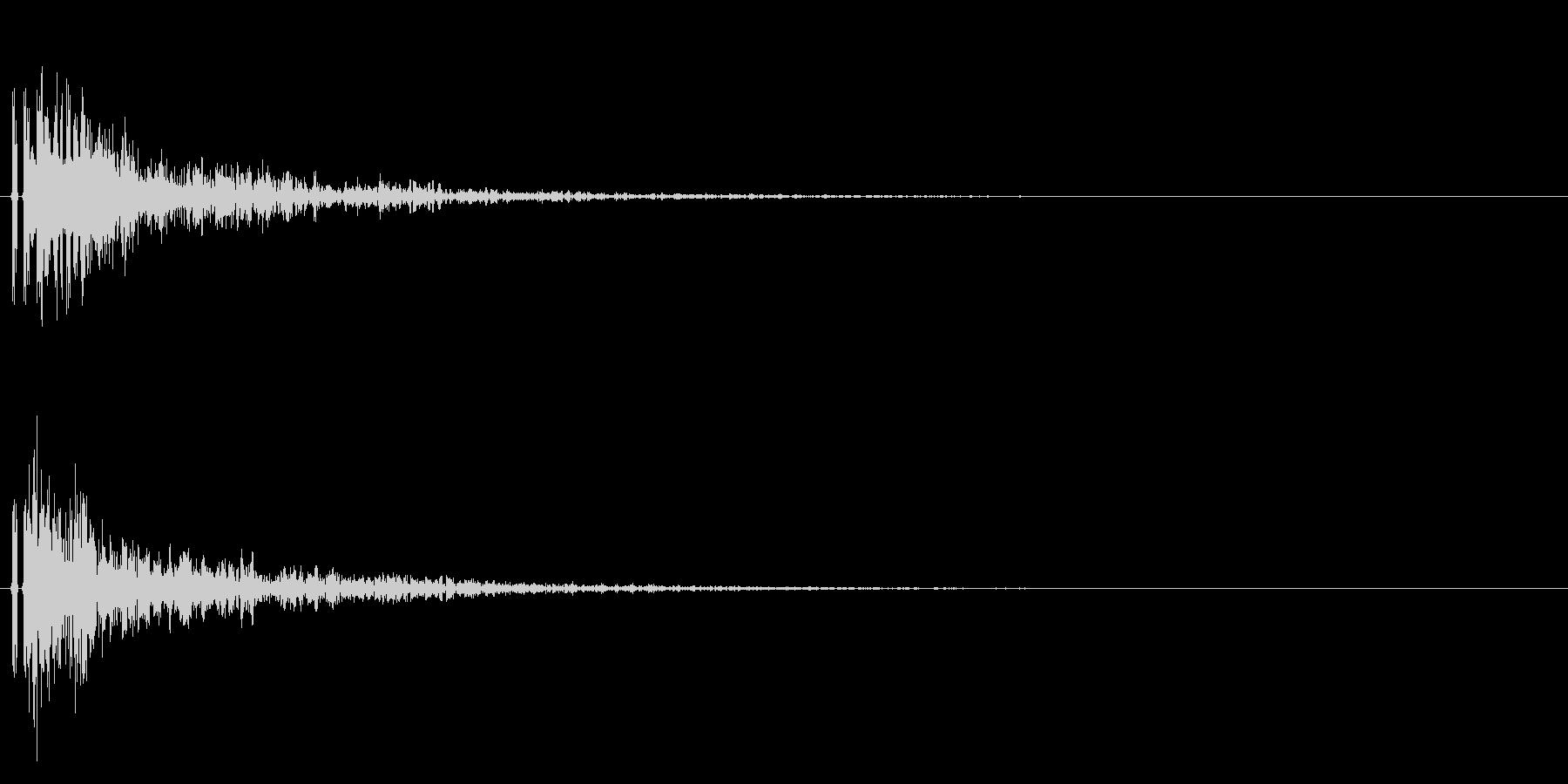 バスケットボールのダンクシュート音!01の未再生の波形