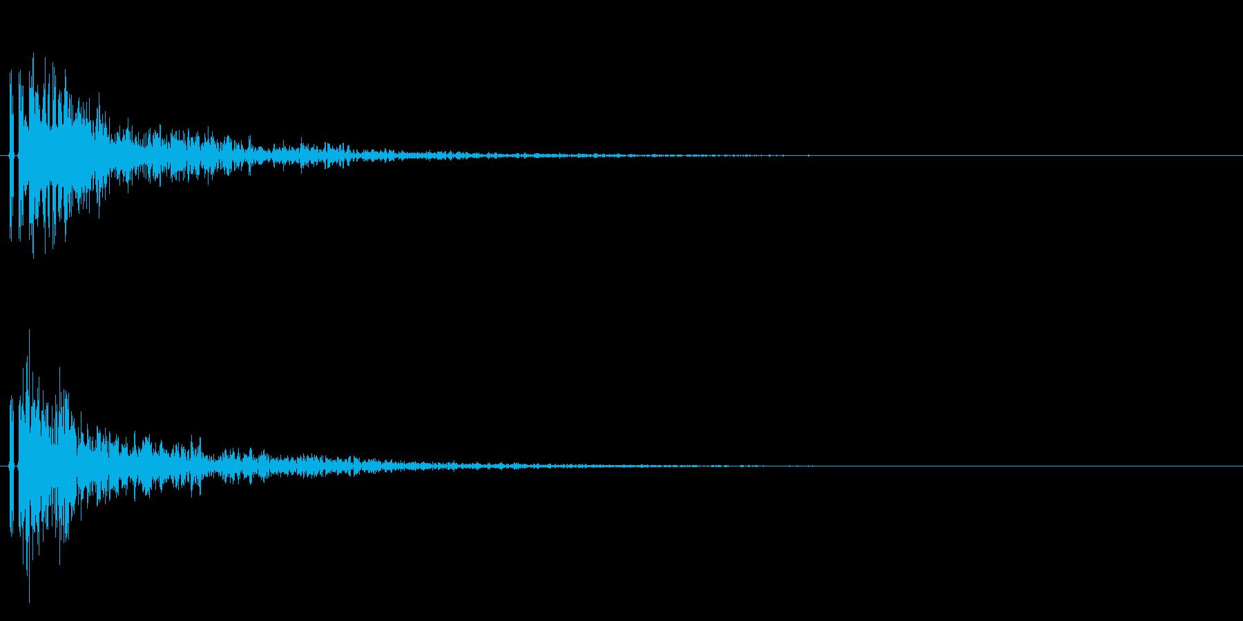 バスケットボールのダンクシュート音!01の再生済みの波形
