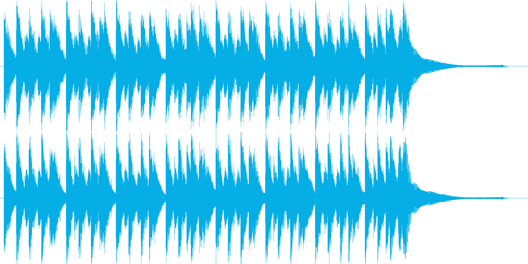明るくポップな流行コーポレート系ロゴの再生済みの波形
