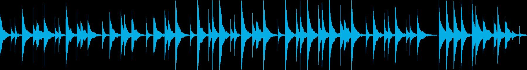 オルゴールアレンジきよしこの夜ループokの再生済みの波形
