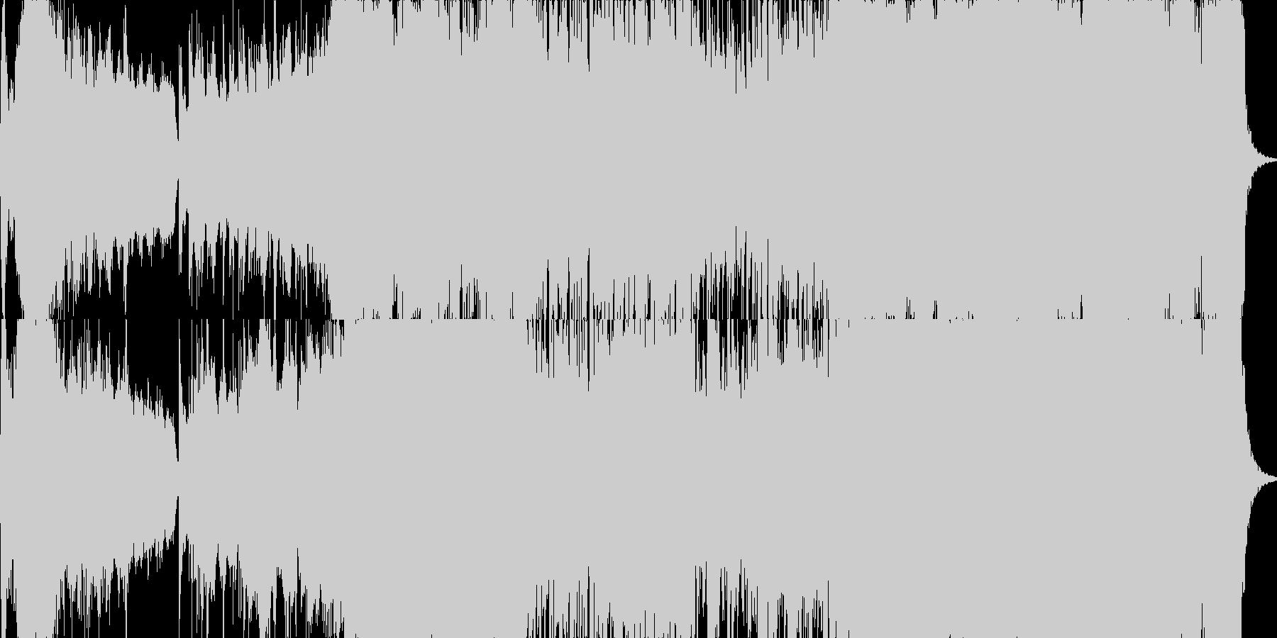 和風管弦楽「天道山河は霧のなか」 の未再生の波形