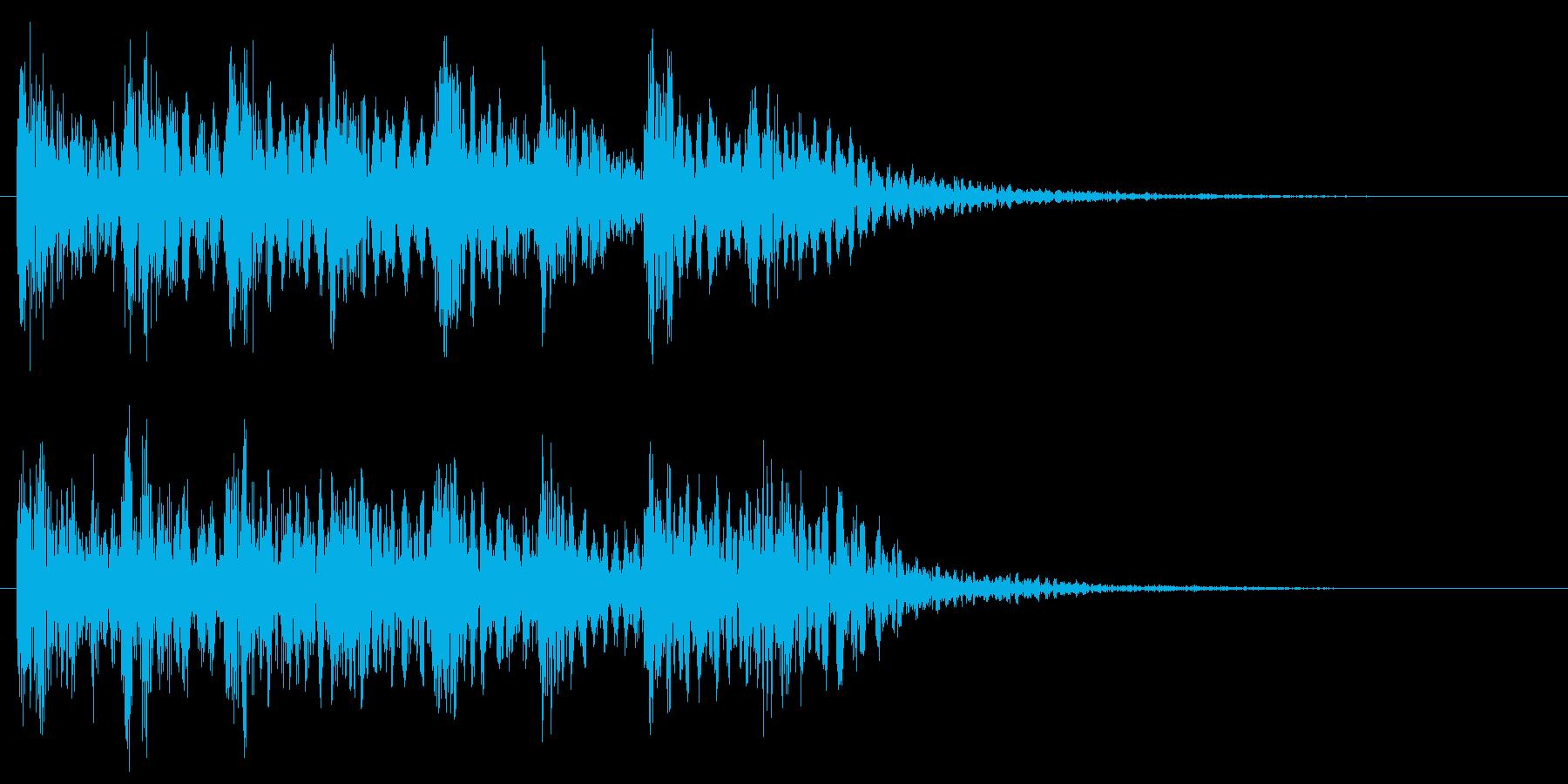 ミステリアスな音 不思議 怪しい 不安の再生済みの波形