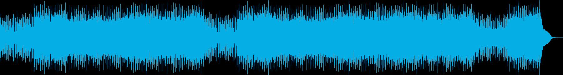 謎めいた興味深い音楽の再生済みの波形