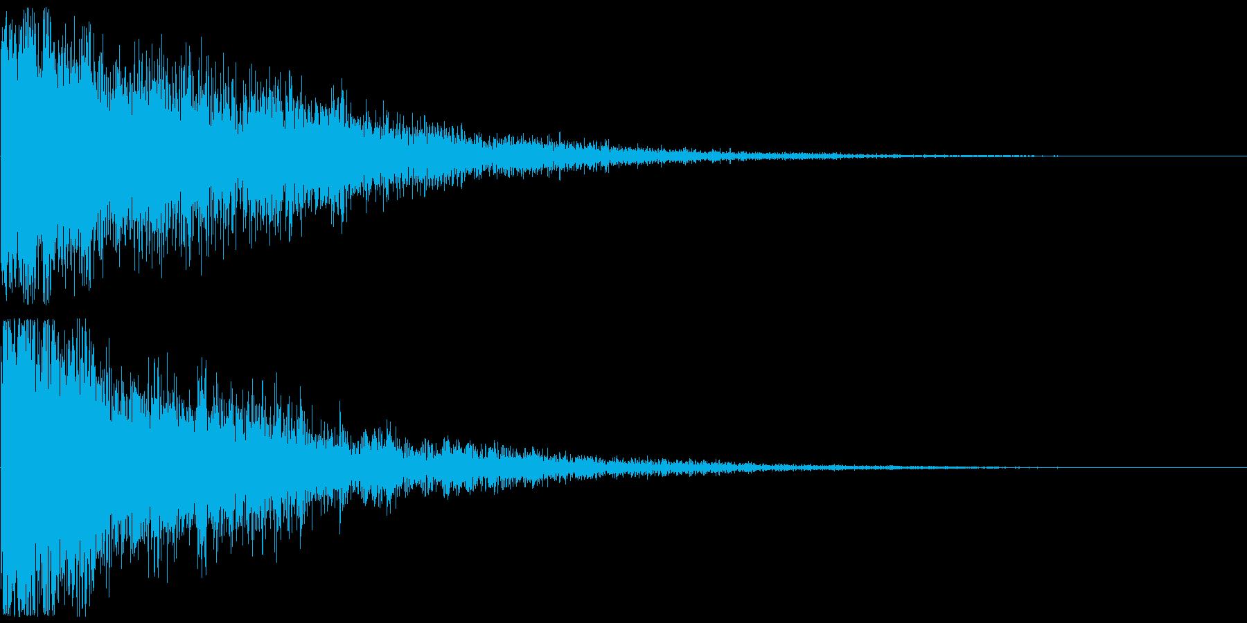 テレレン↑ クリアな響きのボタン音の再生済みの波形