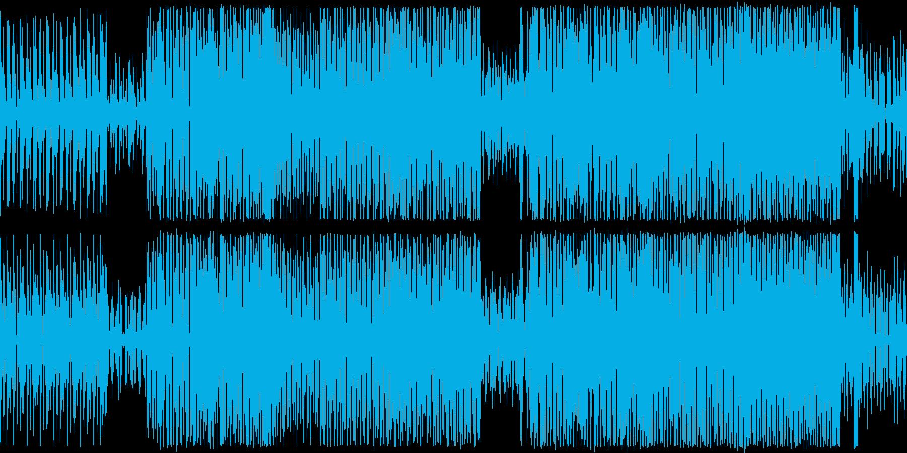 ループ、シューティング、レース向けBGMの再生済みの波形